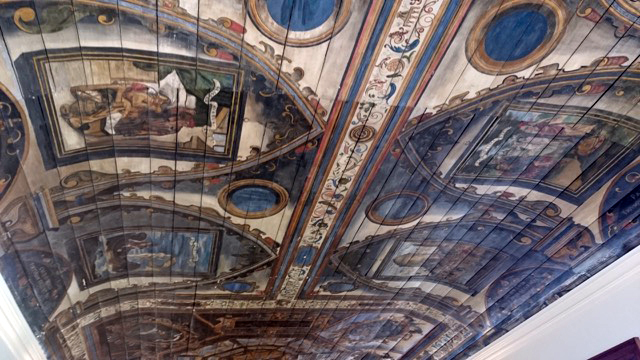 Painted ceiling at Pinkie House